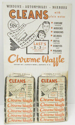 1957 Chrome Waffle Carboard Checkout Display With Most Of The Product
