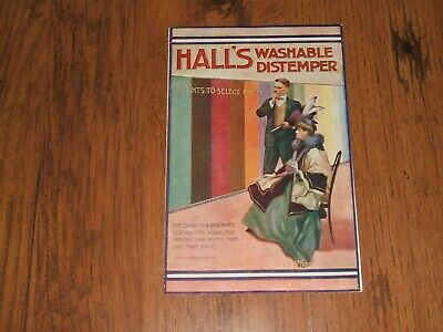 Hall's Washable Distemper - early advertising brochure,leaflet;Sisco,Aperfectol