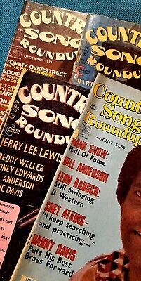 Vtg Lot 4 Country Song Roundup Mag Jerry Lee Lewis Guitar World Player Tab Books