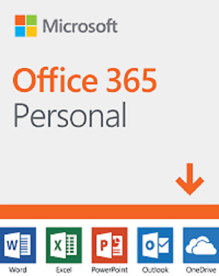 Microsoft Office 365 Personal Product key card- 1 Year Subscription For 1 Person