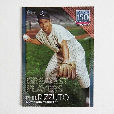 2019 Topps Phil Rizzuto GP-37 Greatest Players 150 years blue parallel Yankees