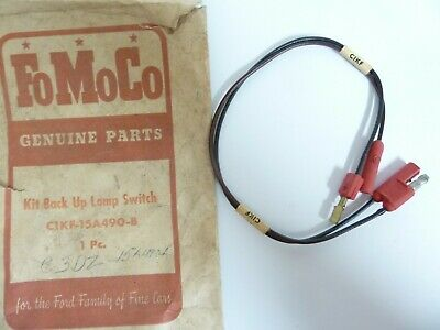 NOS 60 61 62 63 64 FALCON BACK-UP LAMP SWITCH WIRE HARNESS (to lamp) w F/M TRANS