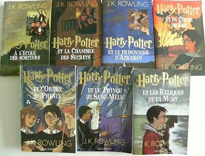 Lot De 7 Livres Harry Potter Tome 1 A 7 En Grand Format