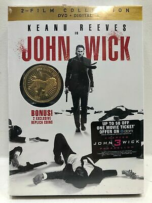 NEW!!! John Wick 2-Film Collection (DVD+Digital W/ Gold Coin)