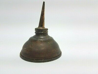 Antique Vintage Machine Copper Oiler Tin Oil Can Small 2 1/4 x 3 Thumb Pop