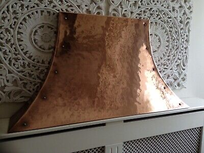 RARE VINTAGE HEAVY HAMMERED COPPER CANOPY HOOD FIRESIDE FIREPLACE 70's//80's