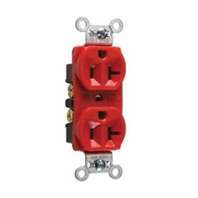 Legrand Pass & Seymour CRB5362-RED 20A 125v Construction Grade Duplex Receptacle