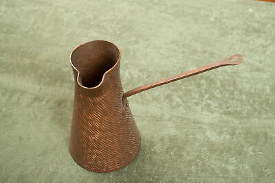 Hand Hammer Copper Ladle Water Cup Arts & Crafts Striations Marks (O2R)