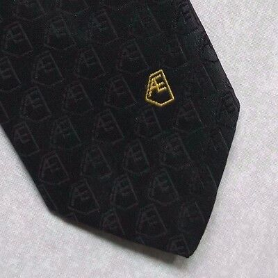 Vintage Tie MENS Necktie Company Logo Crested Club Association Society GREEN