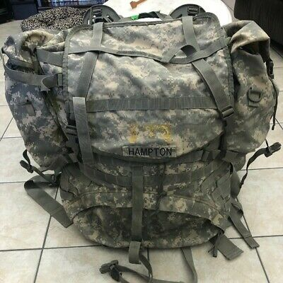 US ARMY ACU MOLLE II LARGE RUCKSACK MAIN PACK COMPLETE w/ POUCHES US MILITARY VG