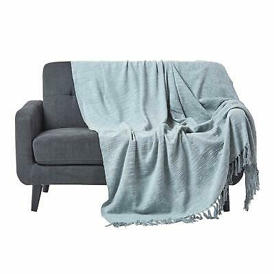Homescapes Nirvana Grey Handwoven Pure Cotton Throw 225 x 255 cm, Bedspread Blan