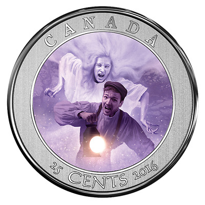 2016 CANADA Haunted Series#3 BELL ISLAND Lenticular 25c 3D Coin&Stamps Gift Set
