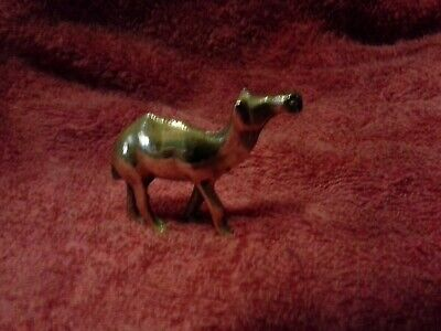 """Brass Camel Old but shiny! Stands up 2"""" tall and 2"""" long"""