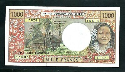 French Pacific Territories (P2) 1,000 Francs 1997 VF+