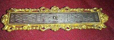 Antique Art Deco Victorian? Ornate Silver w/Gold Tone Large Hair Barrette Clip