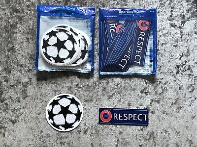 Tottenham - UEFA Champions League Starball & RESPECT Sleeve Patches/Badges