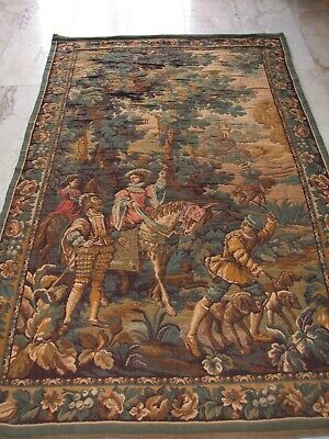 Gobelin French Tapestry Baroque Renaissance Hunting Scene Falcon