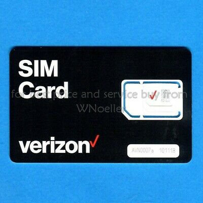 NEW UNACTIVATED Verizon Universal nano/micro/std SIM card - prepaid or postpaid
