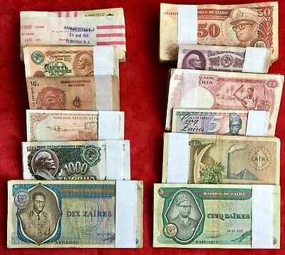 Lot 500 Pcs Different Banknotes from COUNTRIES Paper Money Collections