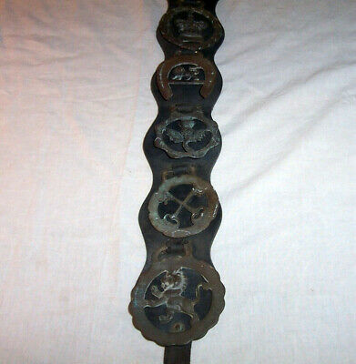 Leather Horse Harness Brass Medallions Lions Scottish Thistle Crossed Keys Crown