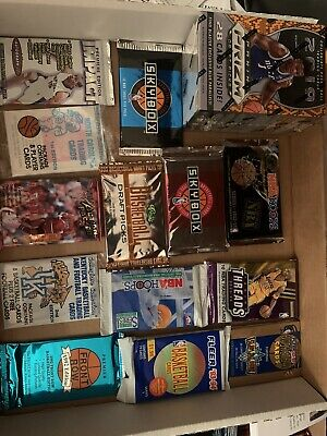 Huge Lot Of Unopened Packs Unopened Basketball Cards Nba Older Estate Sale