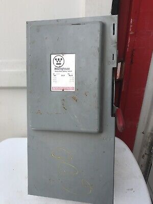 Stainless Steel Westinghouse Heavy Duty Safety Switch Disconnect On Off 100 Amp
