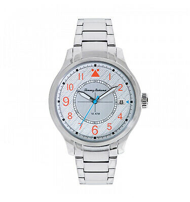 Tommy Bahama Stainless Steel Analog Mens Bracelet Watch 10022437 MSRP $155