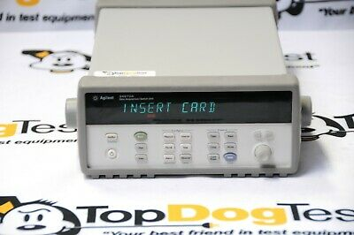 HP Agilent Keysight 34970A Data Acquisition Switch Unit With 6.5 Digit DMM cal
