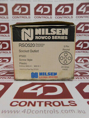 Nilsen RSO520 Socket Outlet IP56D 5 Pin Round - New