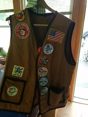Vintage 70's-90's Good Sam RV Club Vest Collectable! 30 Embroidered patches