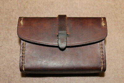 Original WW2 U.S. Army BAR Auto Rifle Brown Leather Spare Parts Box, 1942 dated