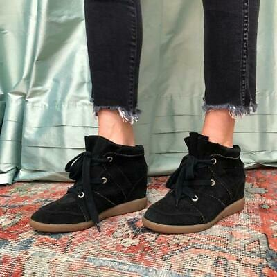 db260e0922 Isabel Marant Black Suede Bobby Hi Top Conceal Wedge Sneaker/Shoes Sz 38  $600