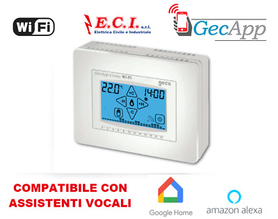 35262375 Gecapp Thermostat Programmable Wifi Mural Blanc