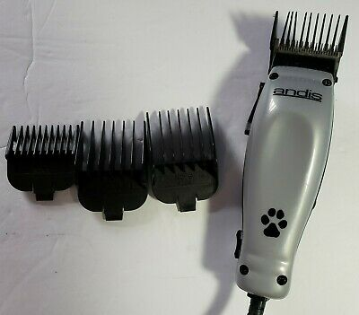 Andis MC-2 Pet Trimmer Clippers Home Haircut Pet Clippers w/4 Attachment Combs