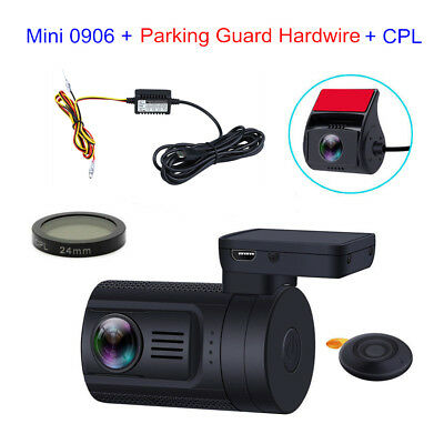 Mini 0906 HD 1080P Dual Lens Car Dash Camera GPS+ CPL+Fuse Parking Hardwire Set
