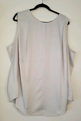 NWOT The Limited Womens Plus Size Sleeveless Top/Shell Size 3X (24) Light Gray