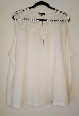 NWOT The Limited Womens Plus Size Sleeveless Blouse Size 3X (24) White