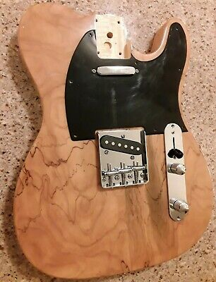 Loaded Spalted Top Telecaster  Guitar Body