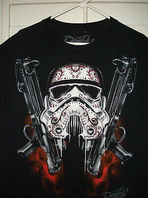 Complex Tattooed Inked Storm Trooper Star Wars T Shirt Black Size Large