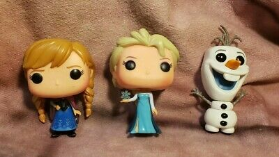 Disney Funko Pop FROZEN Figure Lot - Olaf, Elsa, Anna - 2014 NO BOXES