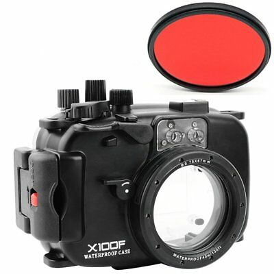 Seafrogs 40m/130ft Underwater Waterproof Diving Case For Fujifilm X100F Camera