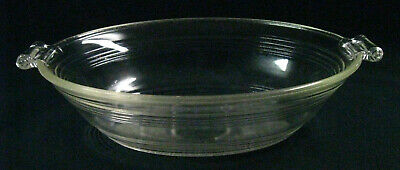 1930s-40s Art Deco Mary Dunbar Ovenware Glass #82 Oval Open Baker Casserole