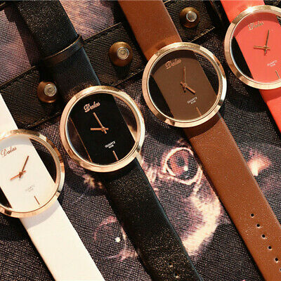 Fashion Women's Girl Classic Casual Quartz Watch Leather Strap Wrist Watches New