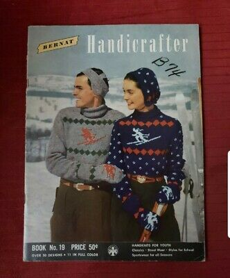 Bernat Handicrafter Book 19 Mag. - 1949 Knitting patterns