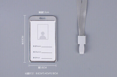 Transparent ID CARD HOLDER POUCH PVC With Lanyard Removable Office Pass Card