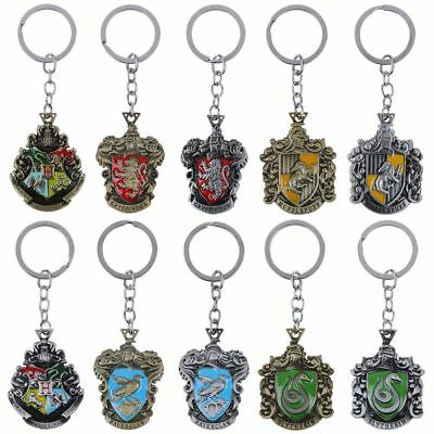 For Harry Potter Hogwarts Wizarding Metal School Badge Pendant Keychain Keyring