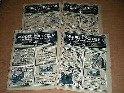 A Collection of 4 Editions Of The Model Engineer & Light Machinery Review -1920s