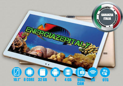 TABLET 10 POLLICI 3G OCTA CORE 8x2.0GHz 4GB RAM 32GB ROM ANDROID 6  DUAL SIM🇮🇹