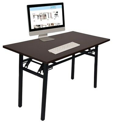Computer Desk PC Laptop Table Wood Workstation Study Home Office Furniture Brown