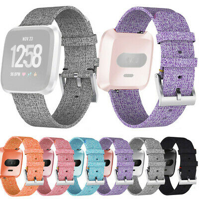 Luxury Woven Fabric Replacement Watch band Wrist Straps For Fitbit Versa Lite ca